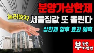 분양가상한제, 서울 집값 또 올린다! 상한제 향후 효과 예측!